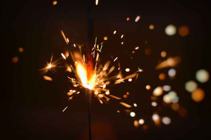 sparks of firecracker