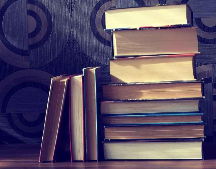book stack books classic knowledge