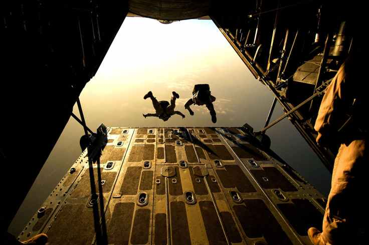 jumping plane military training